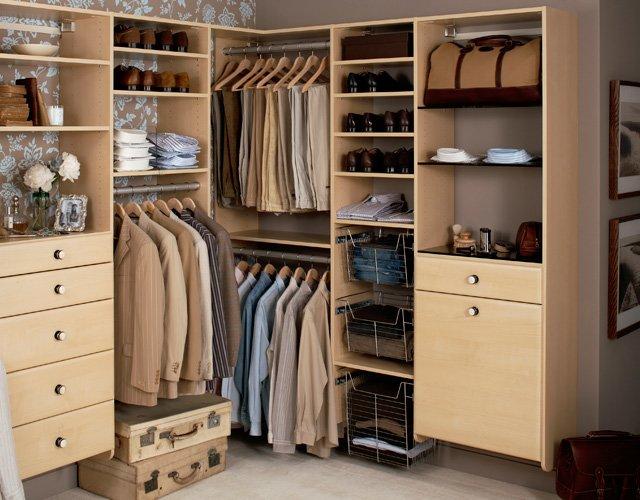 Примеры гардеробных комнат фото