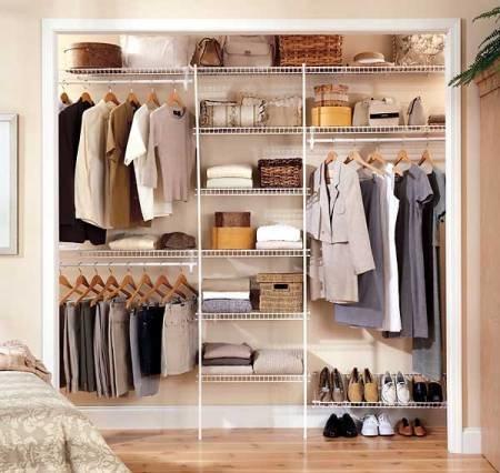 Фото гардеробной в спальне