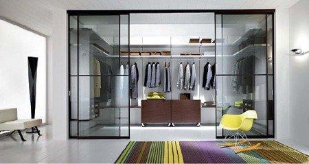 Фото гардеробной в гостиной
