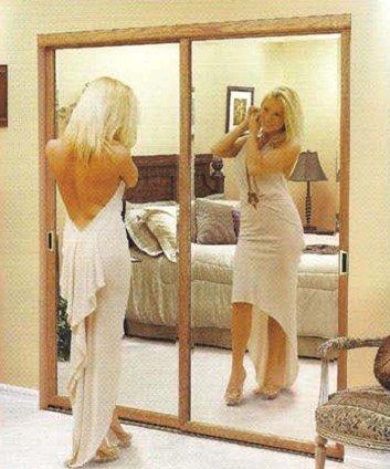Зеркальные двери шкафа-купе