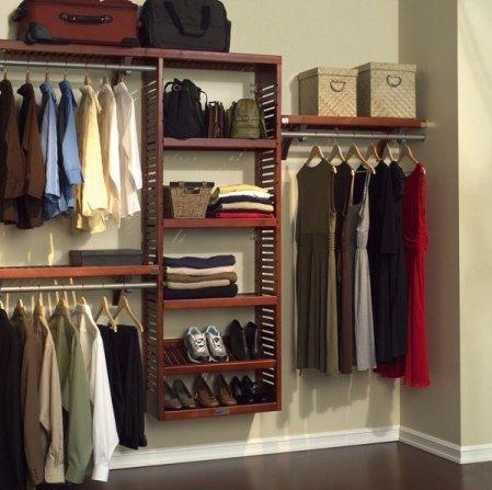 Фото отделки стен в гардеробной
