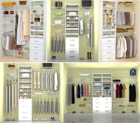 Фото разных вариантов гардеробных