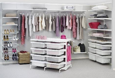 Фото шведской гардеробной Elfa