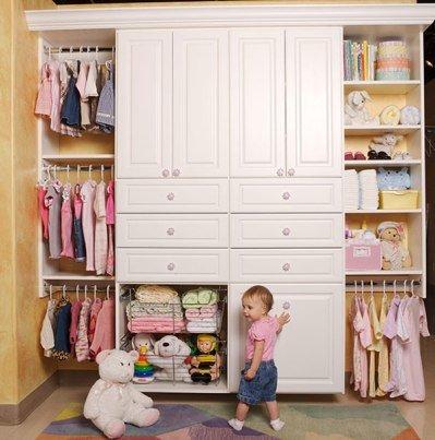 Фото гардеробной в детской для малыша